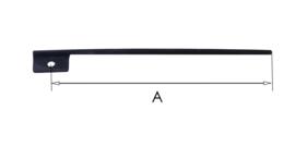 P60  rechte palveer met bevestigingsgat, 42,5 mm