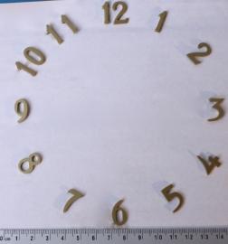 113.5 goudgelakte aluminium cijferset, 16 mm