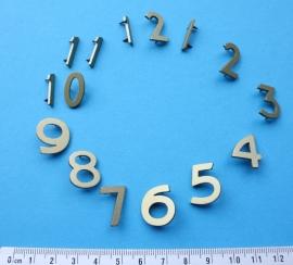113.6 goudgelakte aluminium cijferset, 20 mm