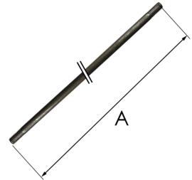 Stalen slingerstaaf voor Friese staart of Engels staand horloge  81 cm