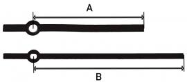 Mod29.7 moderne wijzerset voor quartz 60/80 mm