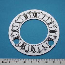 109.2 aluminium cijferrand met opgedrukte cijfers. 76 mm