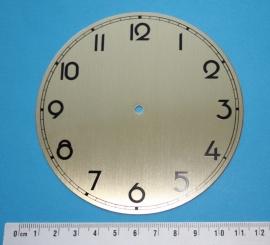 109.11 Aluminium wijzerplaat, goudkleur, 108 mm