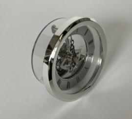 CH11 Insteek quartz met Romeinse cijfers, zilverkleur, 105mm