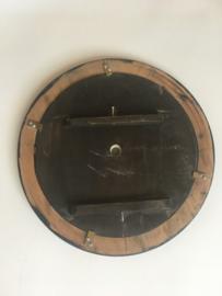 ODB02 glazen en houten wijzerplaat oeil de boeuf met romeinse cijfers