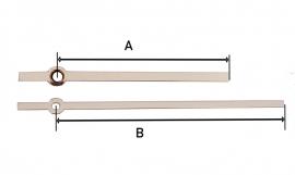 mod33.11 moderne chromen wijzerset voor quartz 75/100 mm