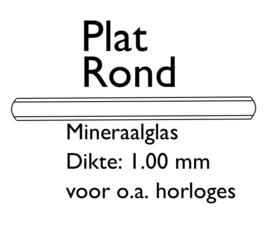 F.00 Plat rond mineraal glas, dikte 1.00mm, Ø 10.0mm