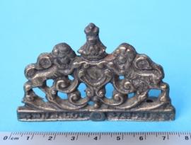 114.2 Topstuk voor kleine Zaanse klok met leeuwen, 75 mm