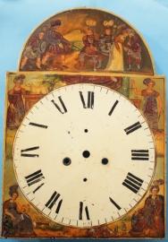 Antieke wijzerplaat voor engelse staande klok
