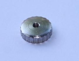 119.6 messing wijzerasmoertje, ribbel, 2 mm, zilverkleur