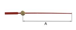 sec93 Secondewijzer voor quartz. 75mm. rood