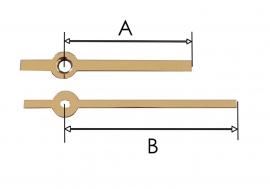 m28.6 Wijzerset voor quartz model 'modern' 45/67 mm