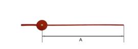 sec27 Secondewijzer voor quartz. 60mm. rood, Duitsland