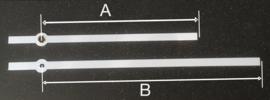 mod006.wi moderne wijzerset voor quartz, wit. 116/160 mm.
