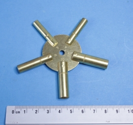 veelzijdige messing stersleutel voor opwindas:  3,25 mm, 3,75 mm, 4,25 mm, 4,75 mm, 5,25