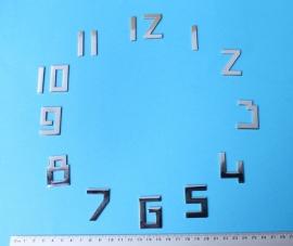 113.2 Messing verchroomde Art Deco cijferset, 35 mm