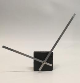 mod160.09 moderne wijzerset voor quartz, in zilverkleur, 116/160 mm