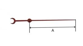 sec50 Secondewijzer voor quartz. 58mm. rood