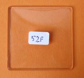 Vierkant bol acrylglas (kunststof) 52 x 52 mm