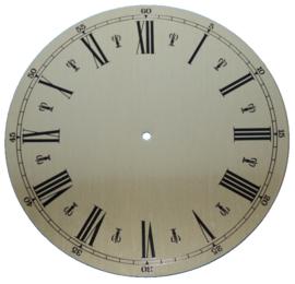 109.20 Aluminium clock dial, Roman figures, 130 mm