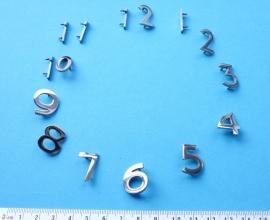 113.9 Hoogglans verchroomde messing cijferset