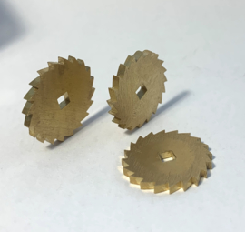 Ro40 Messing palrad, ⌀ 10 mm/16 tanden, Engeland.