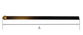 L39 Slingerveer voor staand horloge of Friese staart met rond beslag, 127 mm