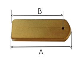 L50 messing blok voor slingerveer Fries of Engels uurwerk