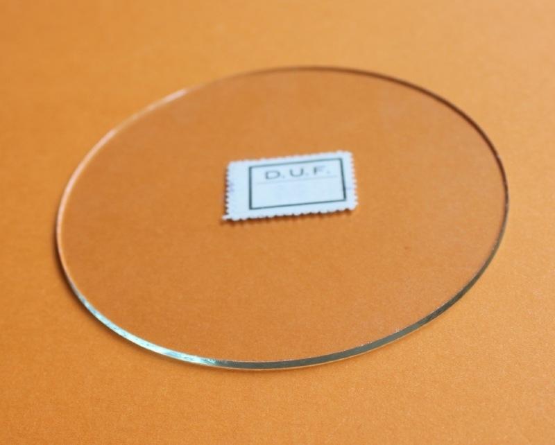 plat rond glas van 44 mm