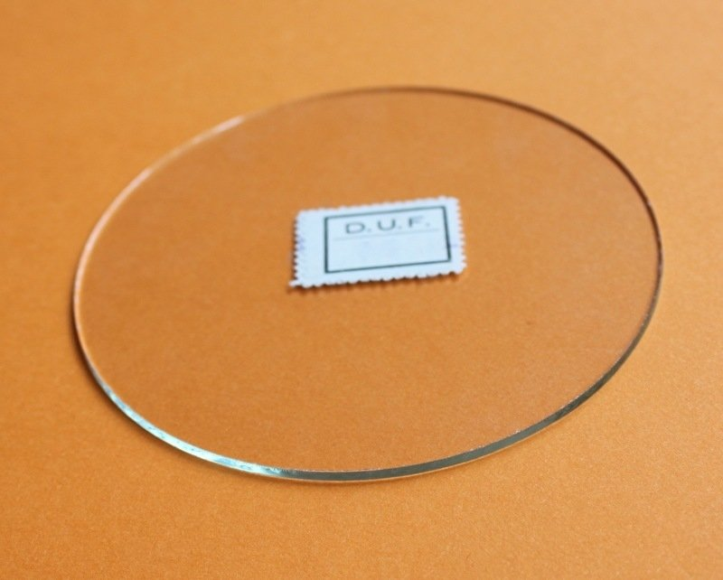 plat rond glas. ∅ 142 mm