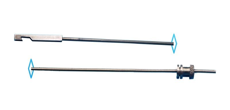 106.7 Slinger met blokhaak (l. 470 mm) voor diverse uurwerken.