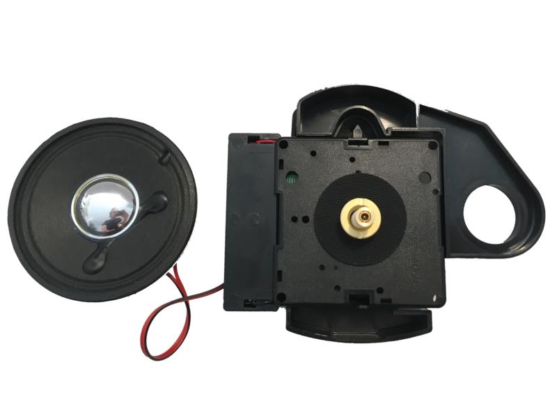 Hermle quartz met melodie en speaker, aslengte 16 mm, Duitsland