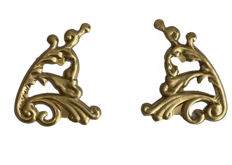 R50 Golvend ornament voor wijzerplaat, aluminium