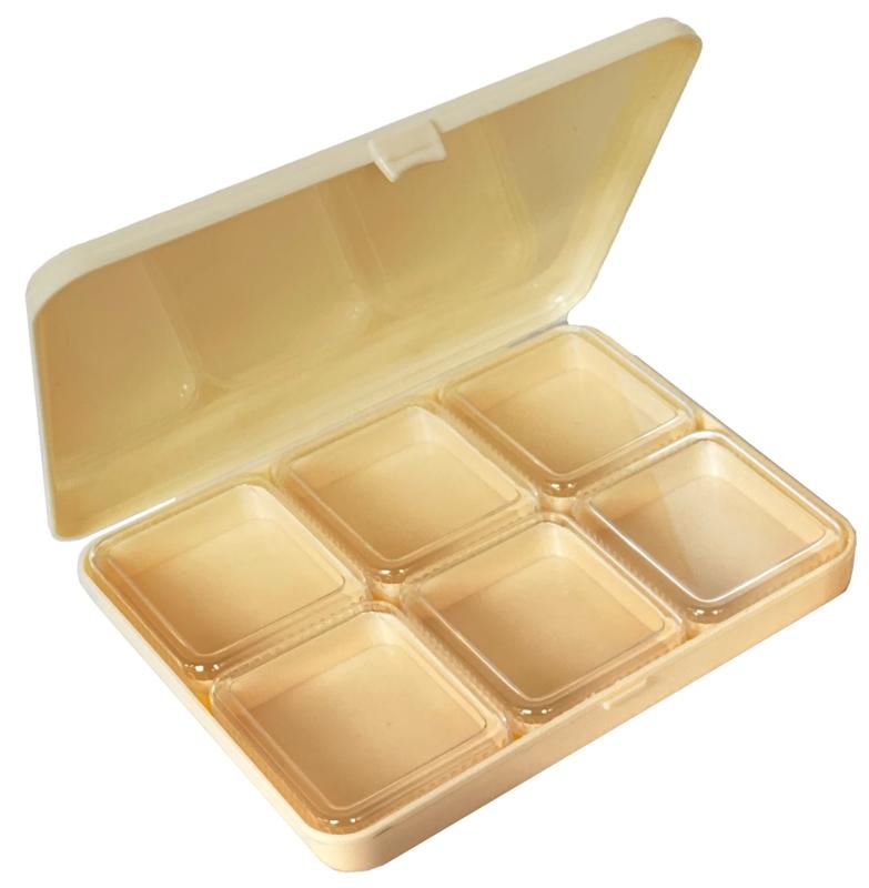 CO.95 compartimentdoos met 6 losse doosjes met deksel, 165x140x25mm