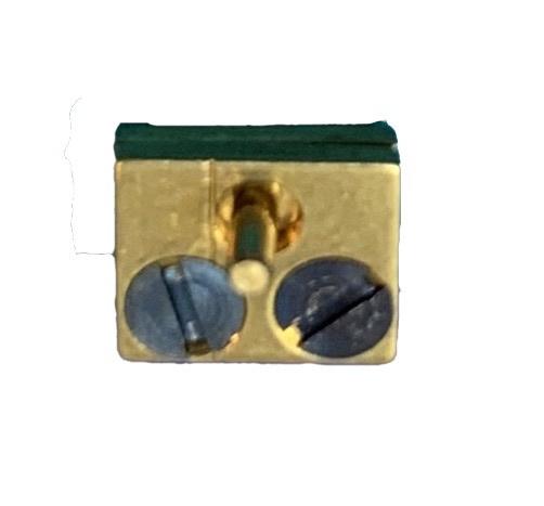 PL75 Messing blok 6 x 5 mm (onderstuk) Duitsland