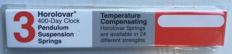 Set van 3 slingerveren voor jaarpendule, 0.084 mm, Horolovar UK