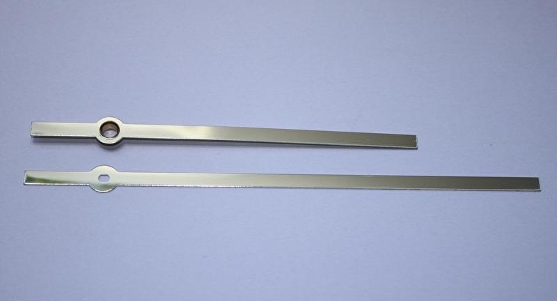 mod007.16 moderne wijzerset voor quartz, in goudkleur, 115/160 mm