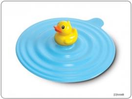 Siliconen mok cover Bduck blauw/geel