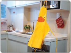 Bduck luxe keukenschort geel