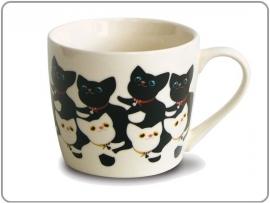 """Witte mok met oor """"Cats black & white"""""""