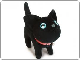 Pluche kat zwart