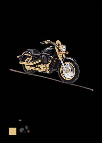 Black Motor Bike