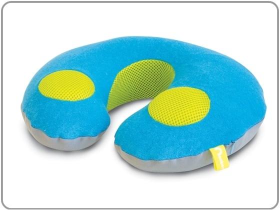 Kindernekrol met stereoluidspeakers blauw