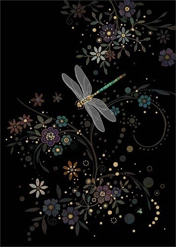 Dragonfly in a Swirl