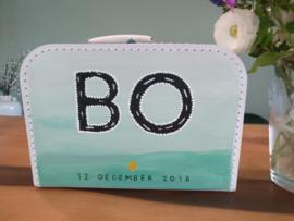 Koffertje van 25 cm + beschildering