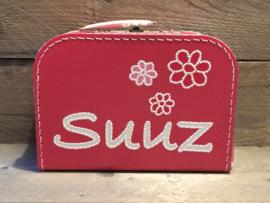 Koffer fuchsia roze 25 cm