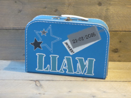 Koffer aquablauw 25 cm