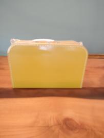 Koffertje van 25 cm Okergeel