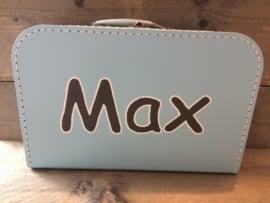 Koffer lichtblauw 30 cm