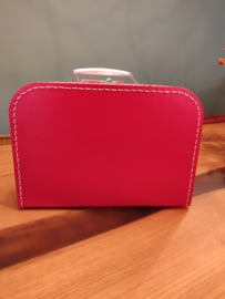 Rood koffertje van 35 cm